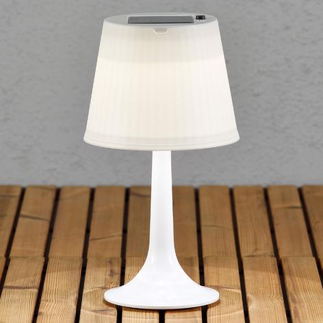 Hvit solcelledrevet bordlampe Assisi Sitra m. LED