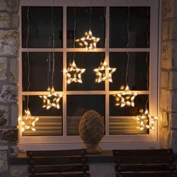 Superbe rideau lumineux LED Etoiles, 70 lampes