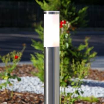 Zylinderförmige Wegelampe Kristof, Edelstahl