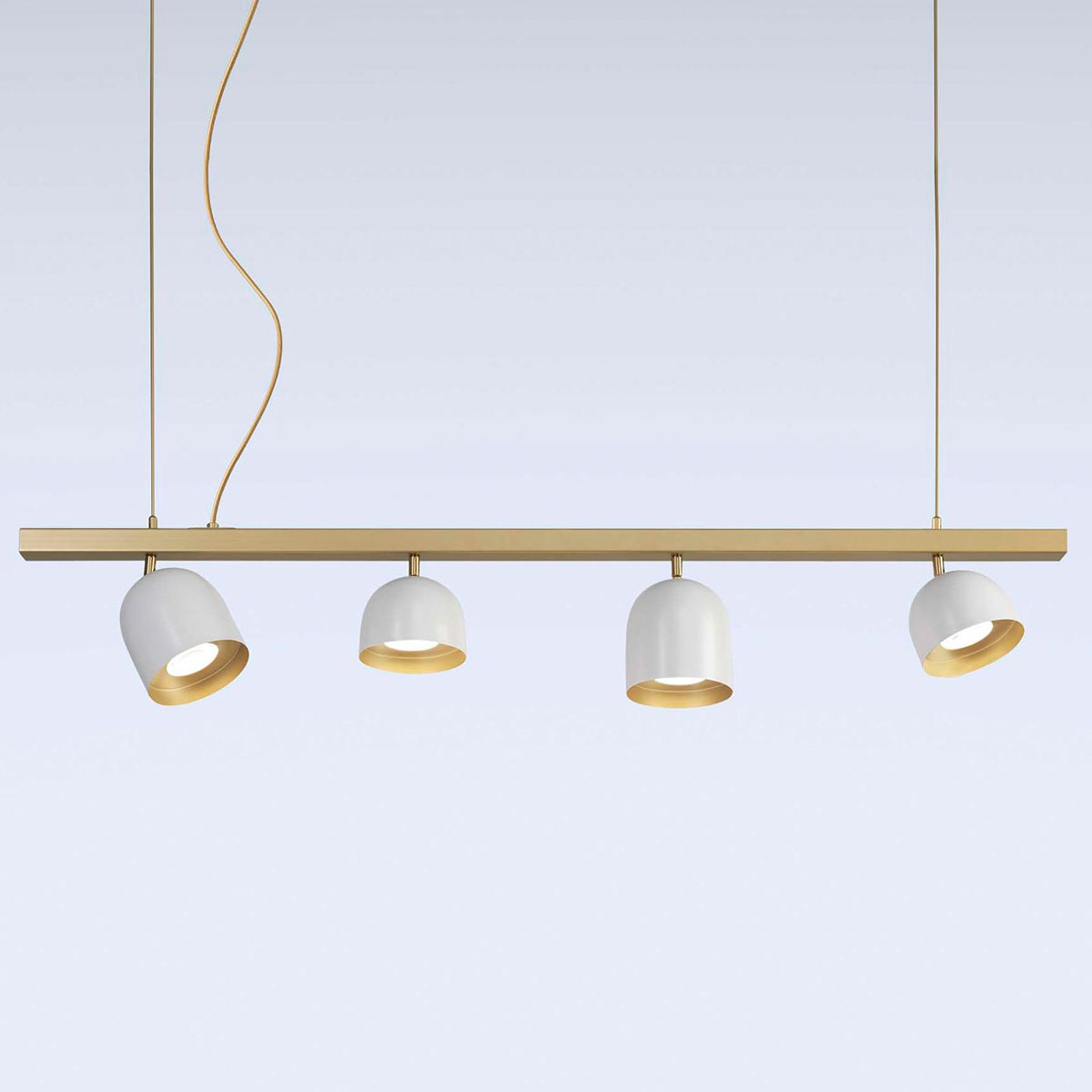 Dome LED-hængelampe 4 lyskilder, hvid