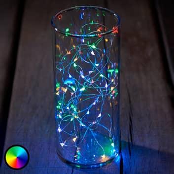 Cadena de luces LED Knirke multi, RGB, 40 luces
