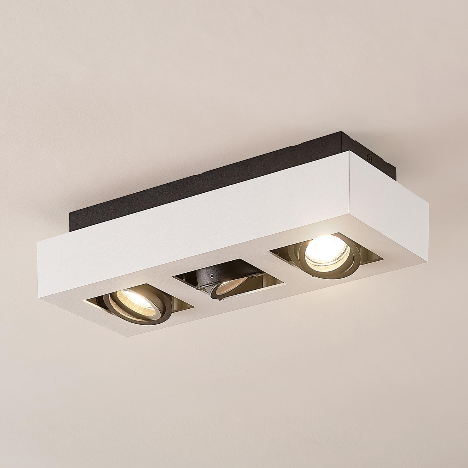Arcchio Vince, plafondlamp, 36x14cm in wit