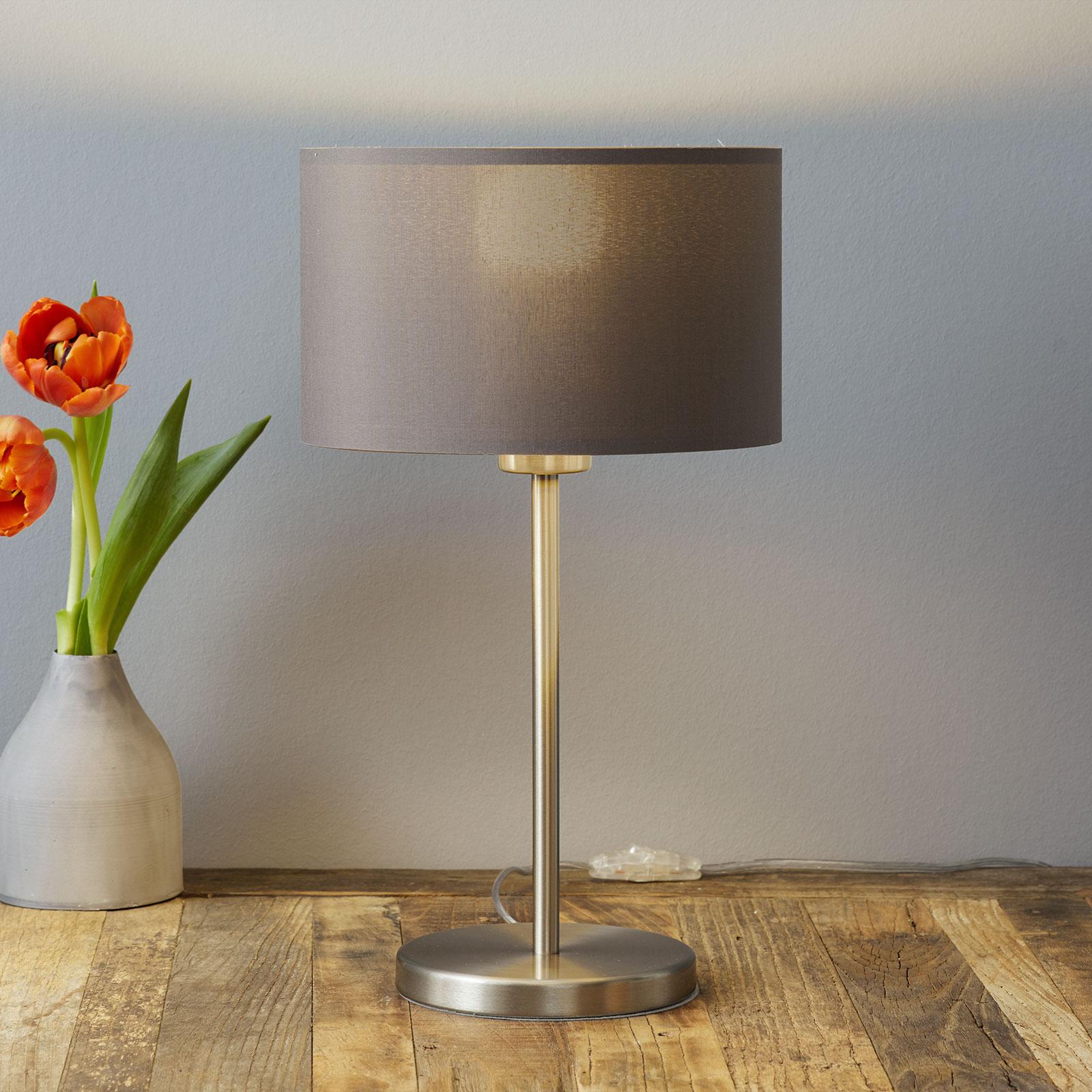 Atraktívna stolná lampa Carpi textilné tienidlo