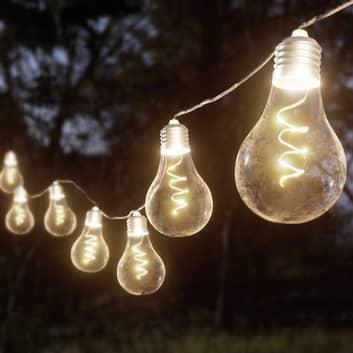 Lindby Lampini LED-Solar-Lichterkette