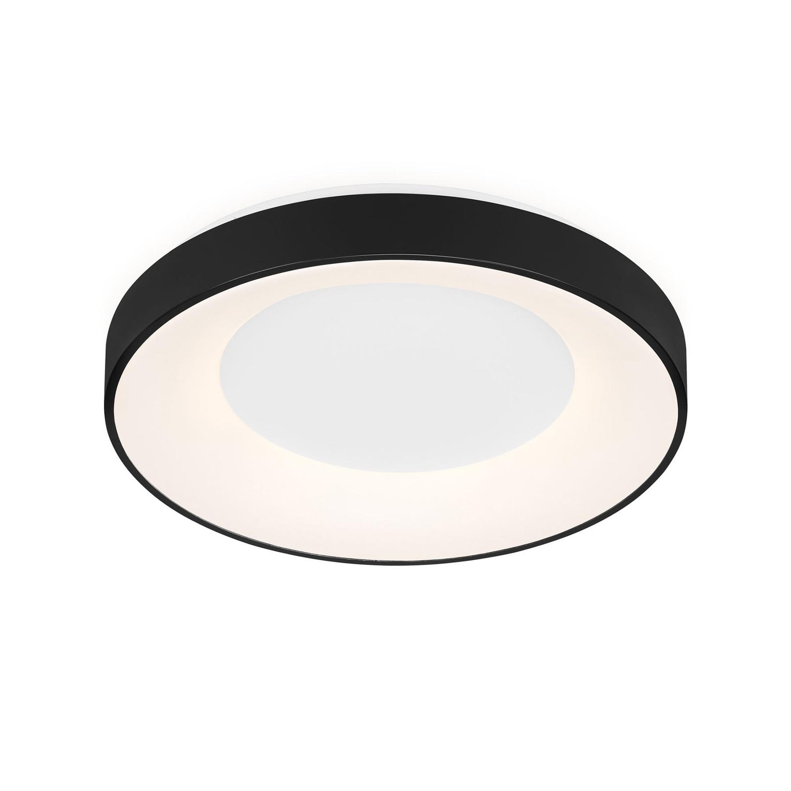 Plafonnier LED Rondo CCT télécommande, noir