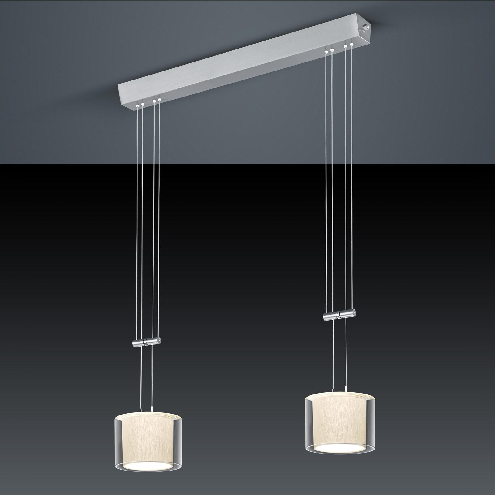 BANKAMP Cecil lampa wisząca LED, 2-punktowa
