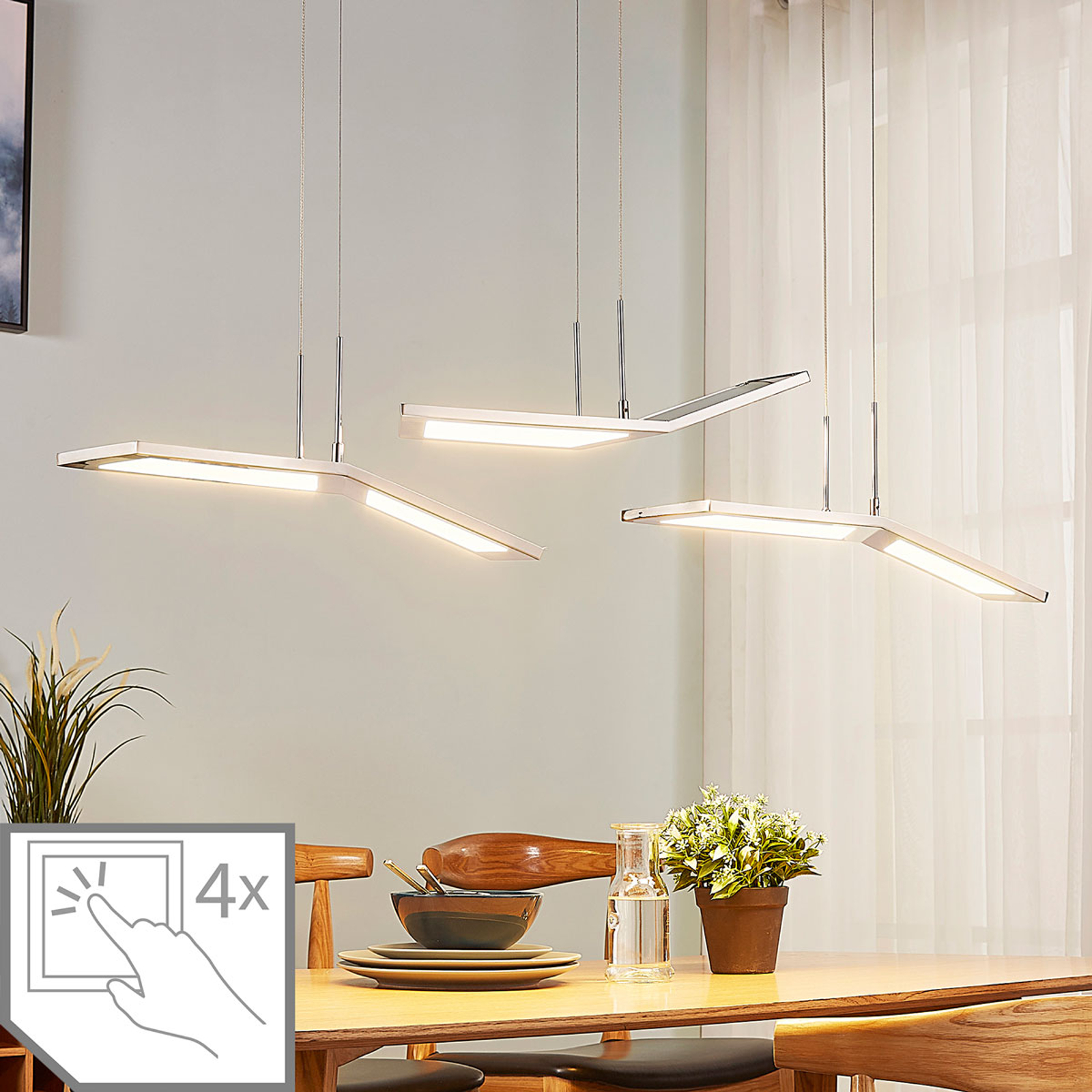 Dimbare LED hanglamp Luciano