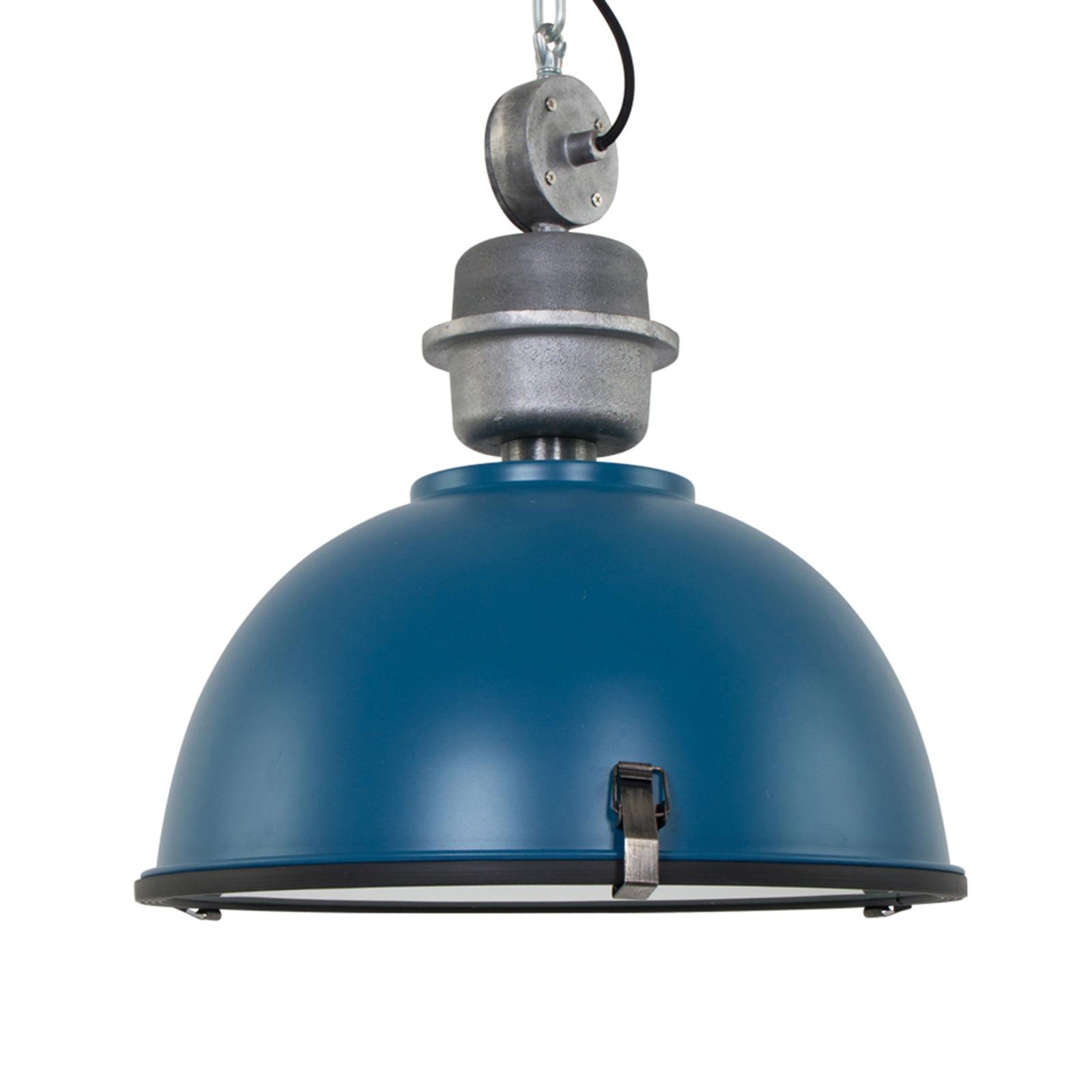 Industrialna lampa wisząca Bikkel, kolor petrol