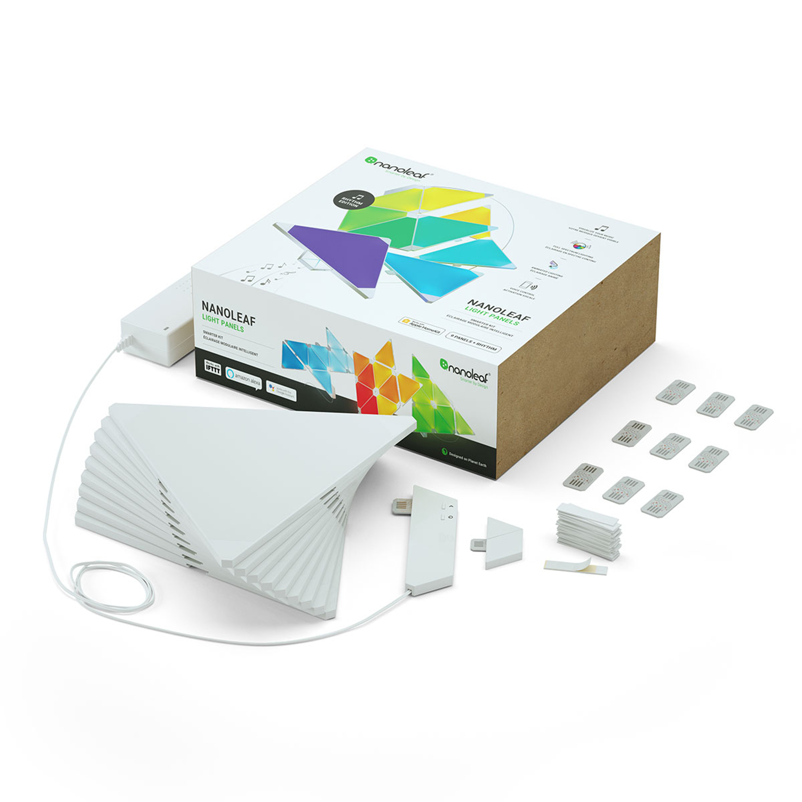 Nanoleaf Light Panels Rhythm Edition Panels 9er