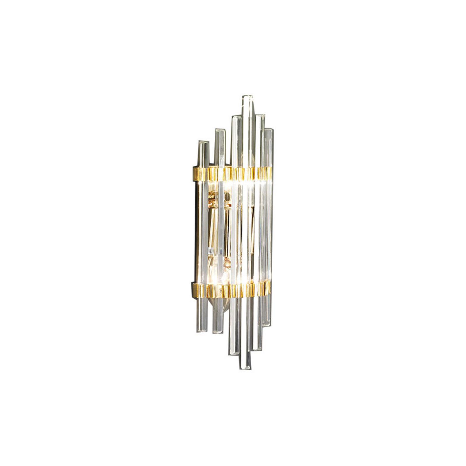 Vegglampe Ontario, høyde 31 cm, gull