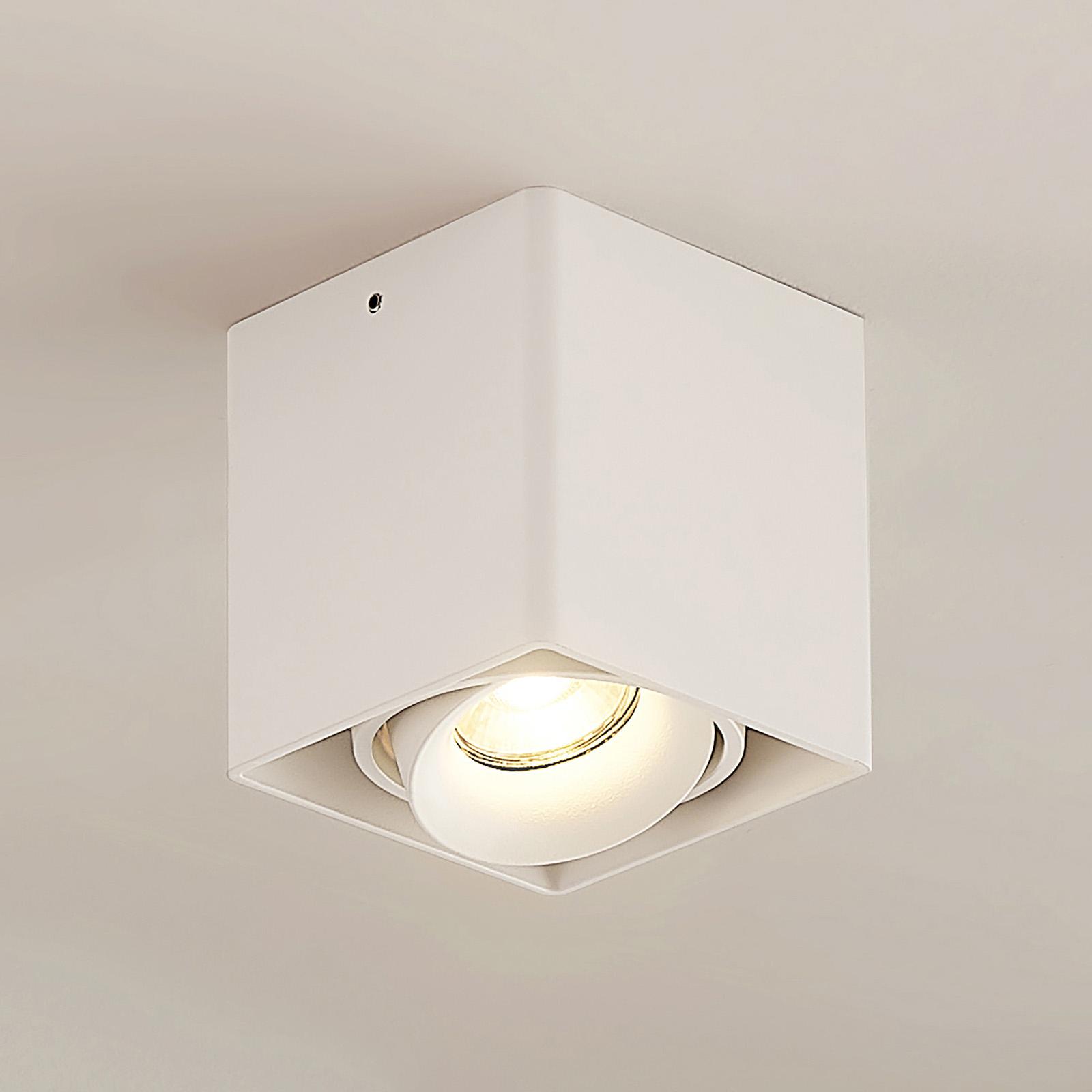 Arcchio Kubika downlight, GU10, 1 lyskilde, hvit
