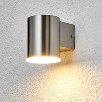 lámpara pared ext. LED redon. Morena acero inox.