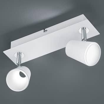 2-punktowy spot LED Narcos, biały, chrom