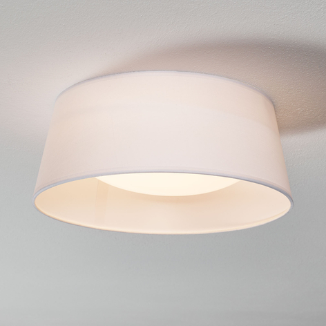 Lámpara de techo textil Ponts blanca con LEDs