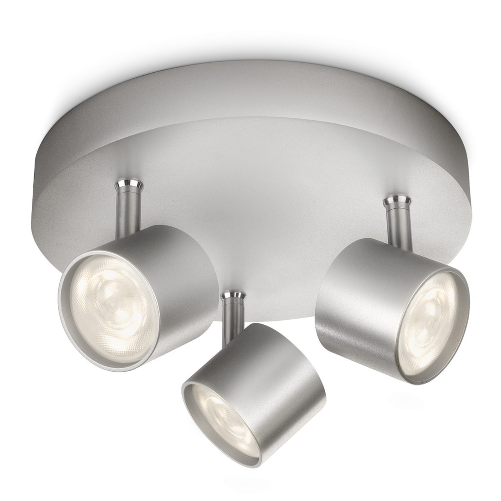 Ronde LED-plafondlamp Star, 3-lichts, zwenkbaar