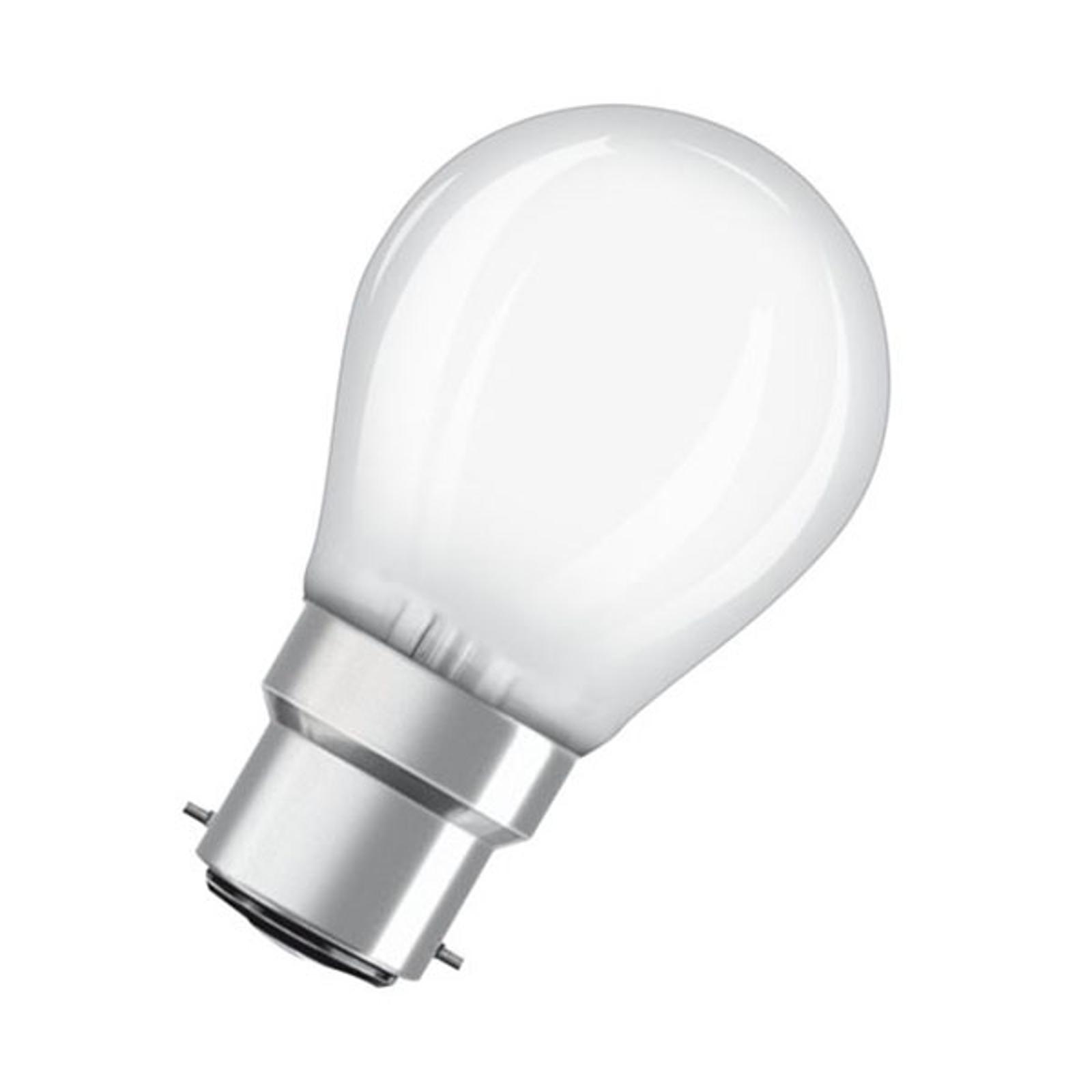 OSRAM LED-Tropfenlampe B22d 4W 2.700K matt
