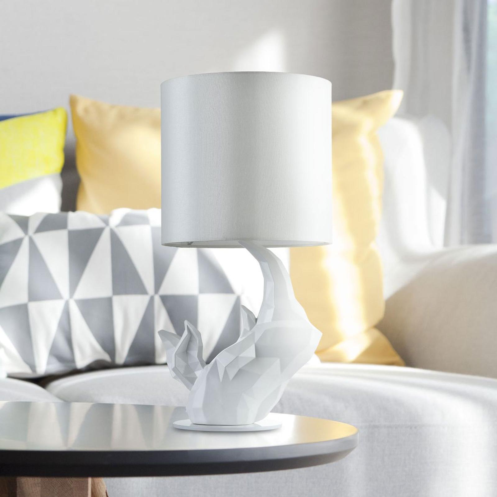 Lampa stołowa Nosorożec biała