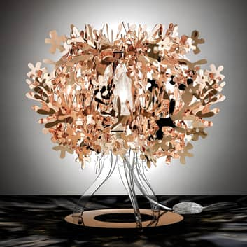 Miedziana designerska lampa stołowa FIORELLINA