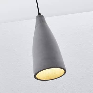 Lámpara colgante hormigón Sanne, estilo industrial