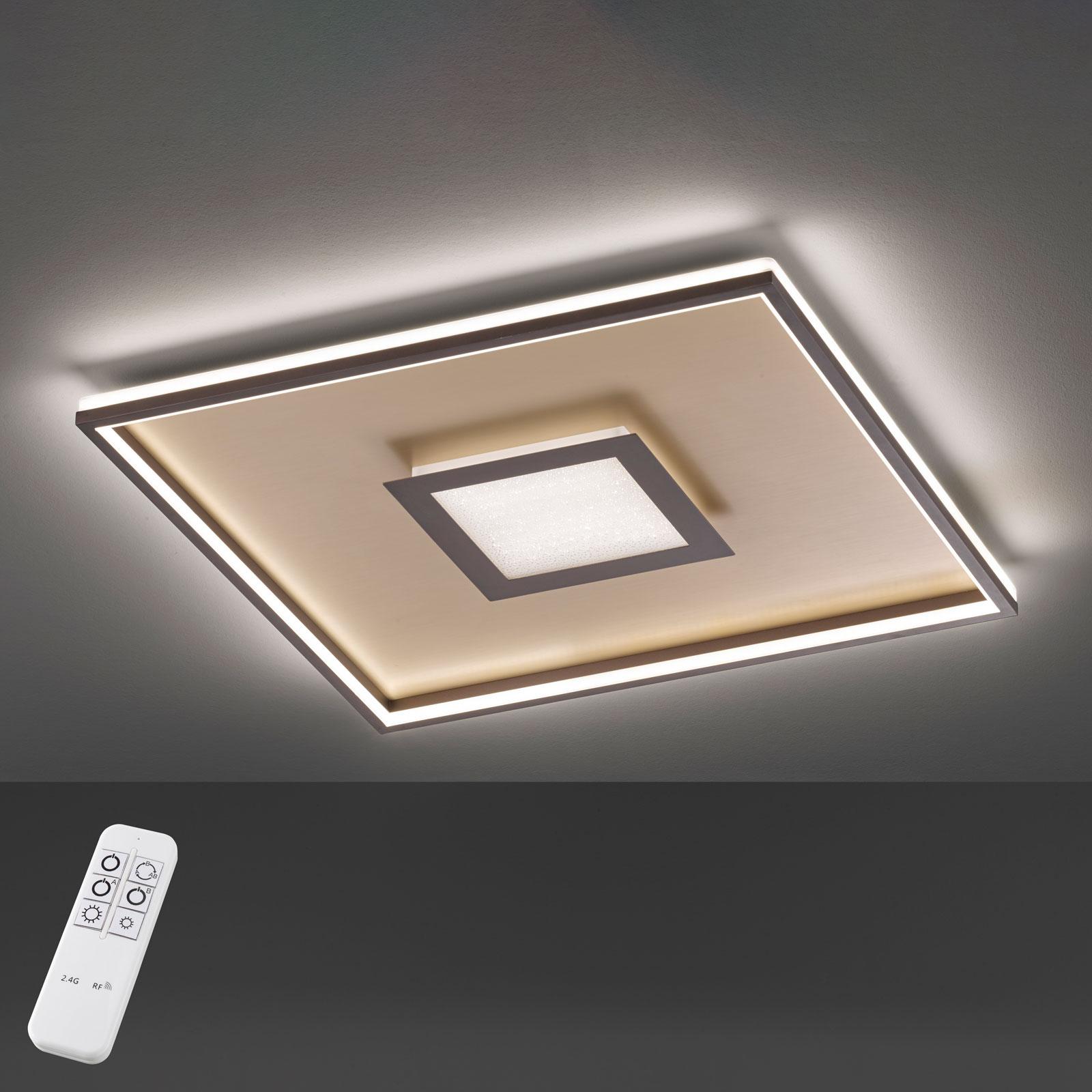 Lampa sufitowa LED Bug kwadratowa, rdza 80x80cm