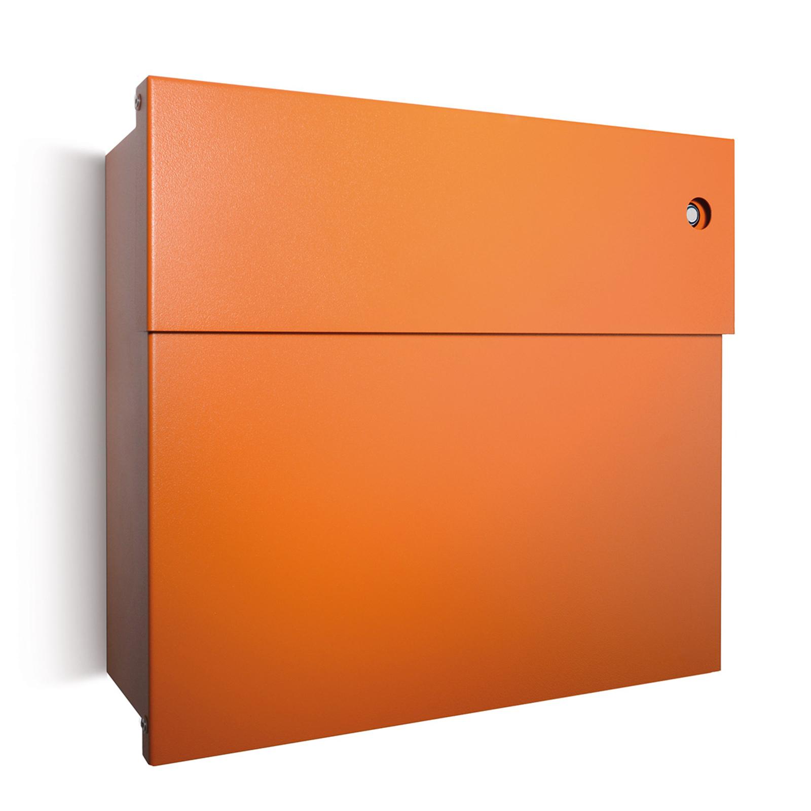 Brevlåda Letterman IV, blå ringklocka, orange