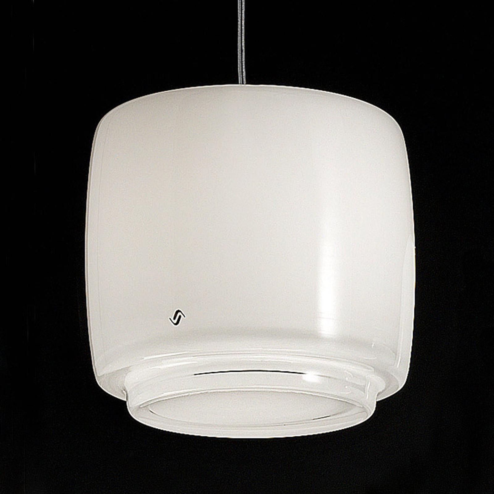 Szklana lampa wisząca BOT, Ø 16 cm