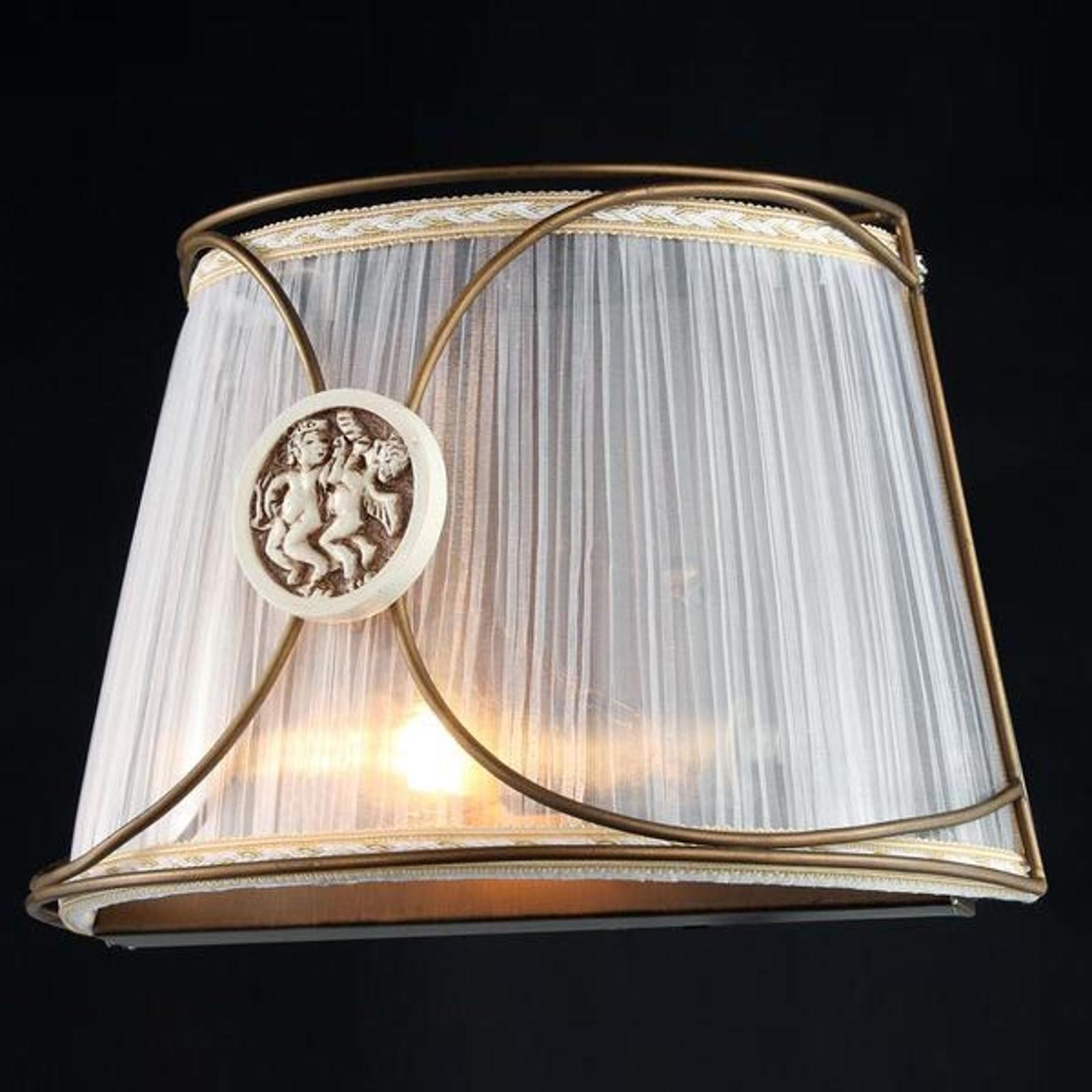 Letizia - vegglampe medOrganza og engel motiv