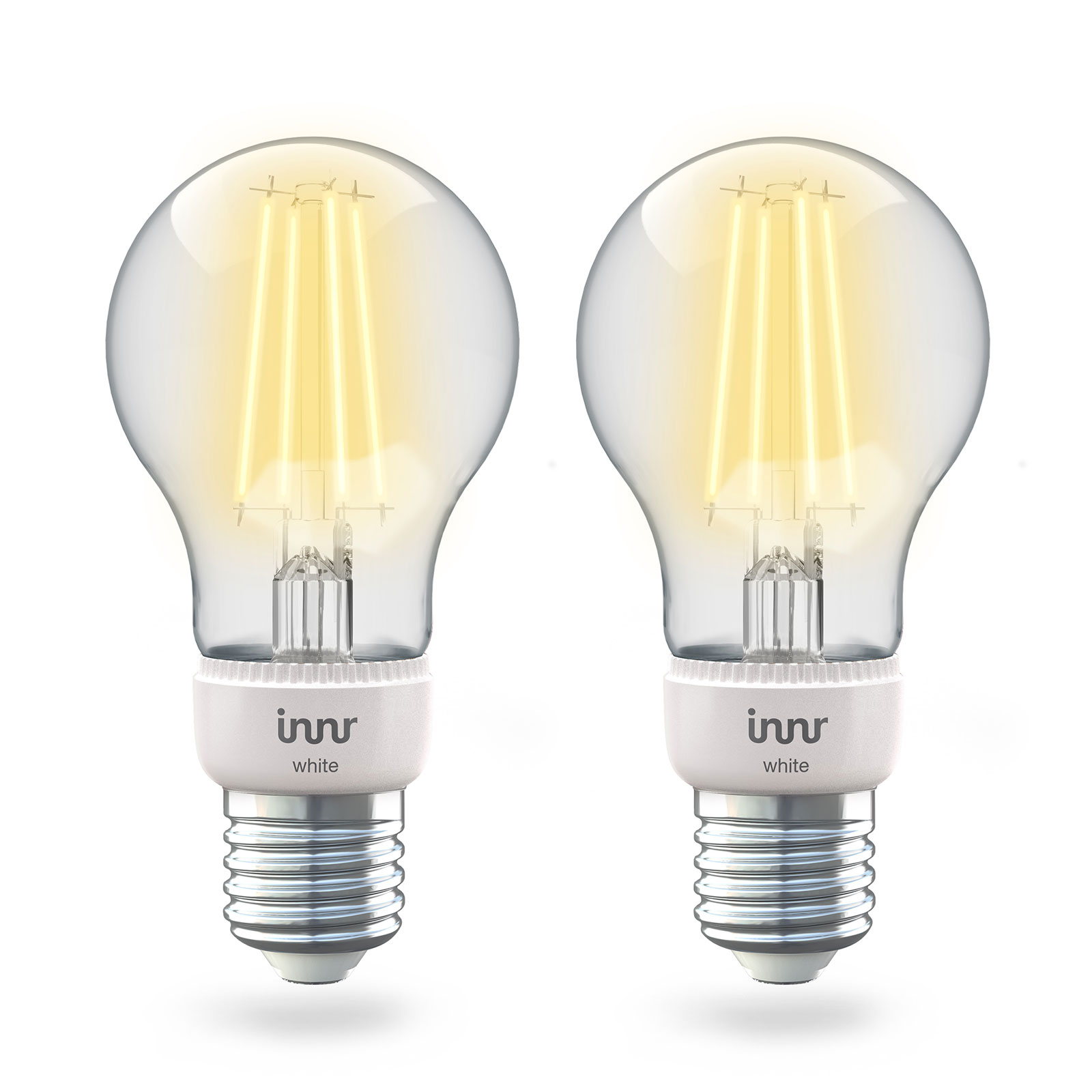 Innr LED E27 6,3W Smart Filament warmweiß 806lm 2x