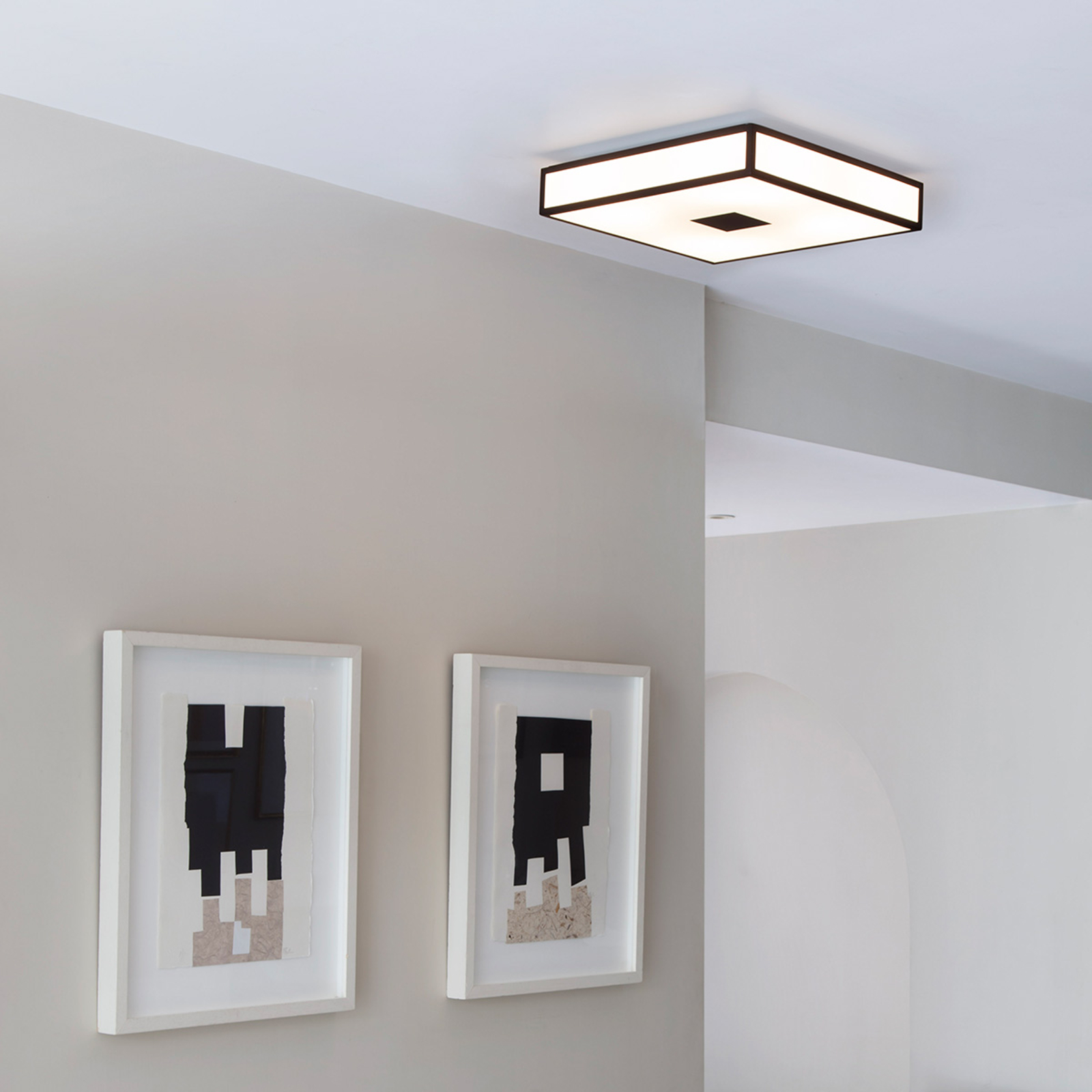 Moderne plafondlamp MASHIKO 40 x 40 cm, brons