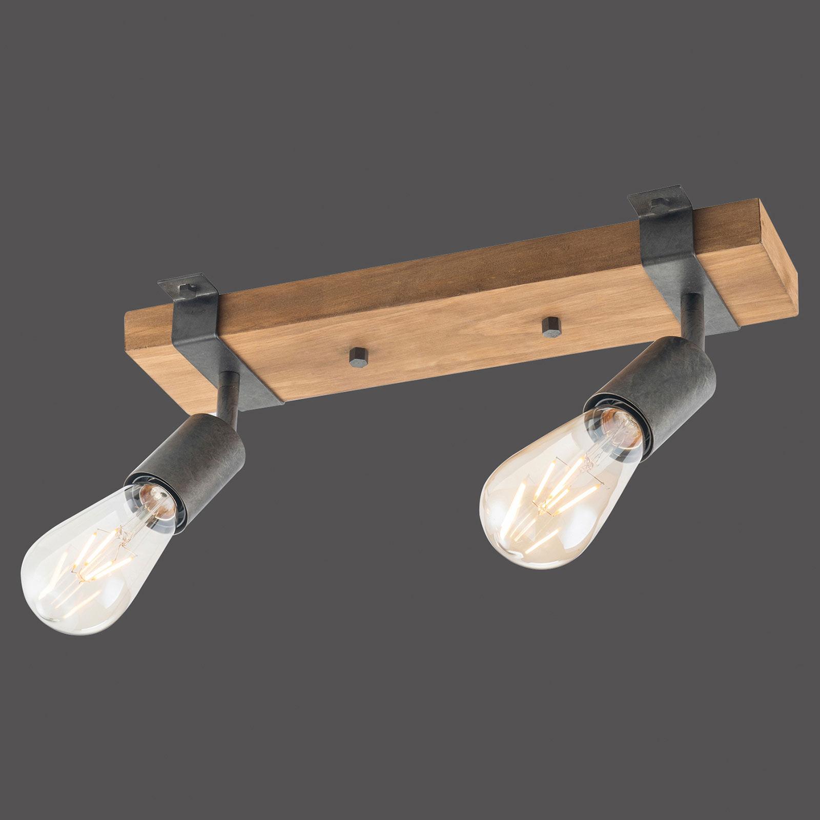 Lampa sufitowa Slat, wychylana, 2-punktowa