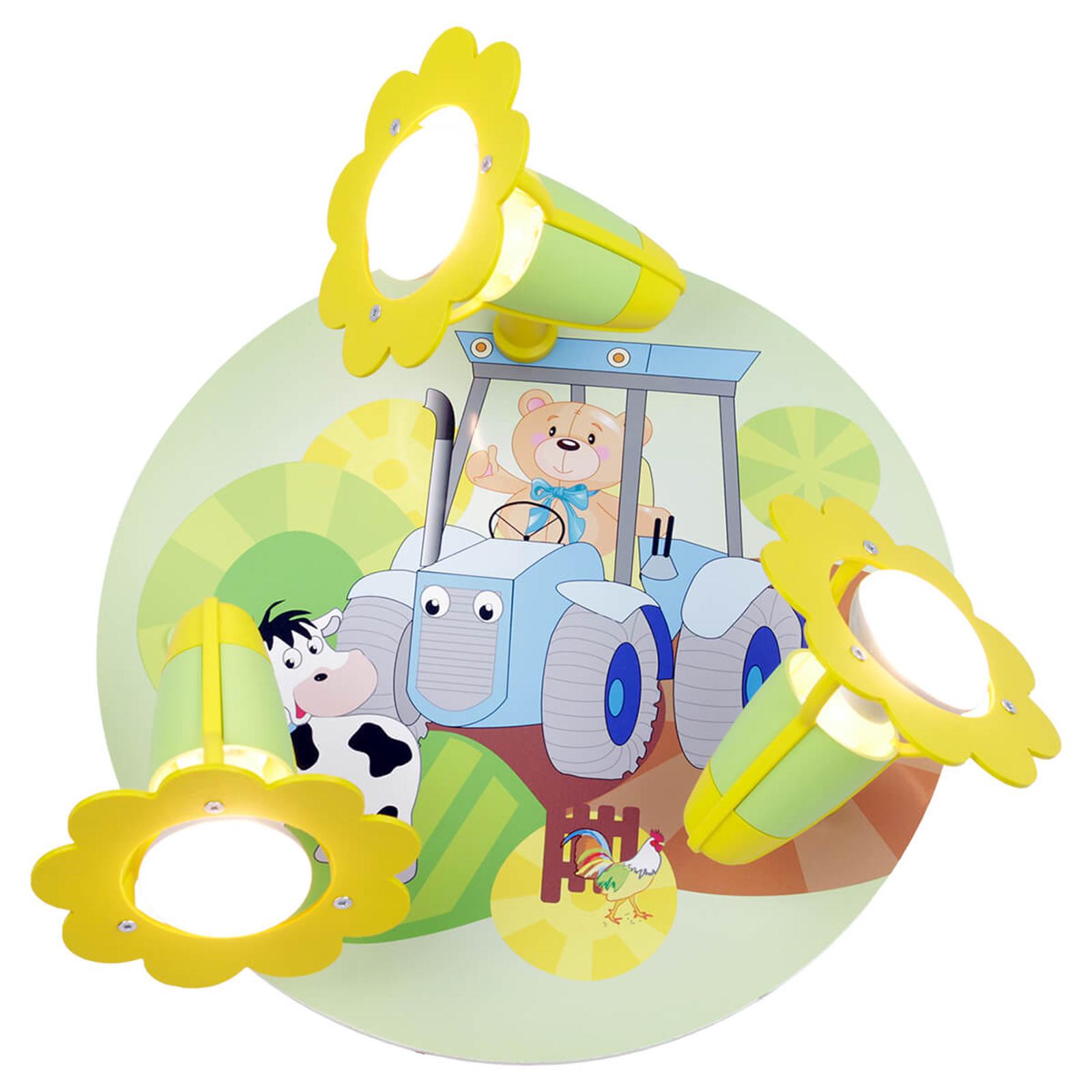 Lampa sufitowa Traktor z motywem farmerskim