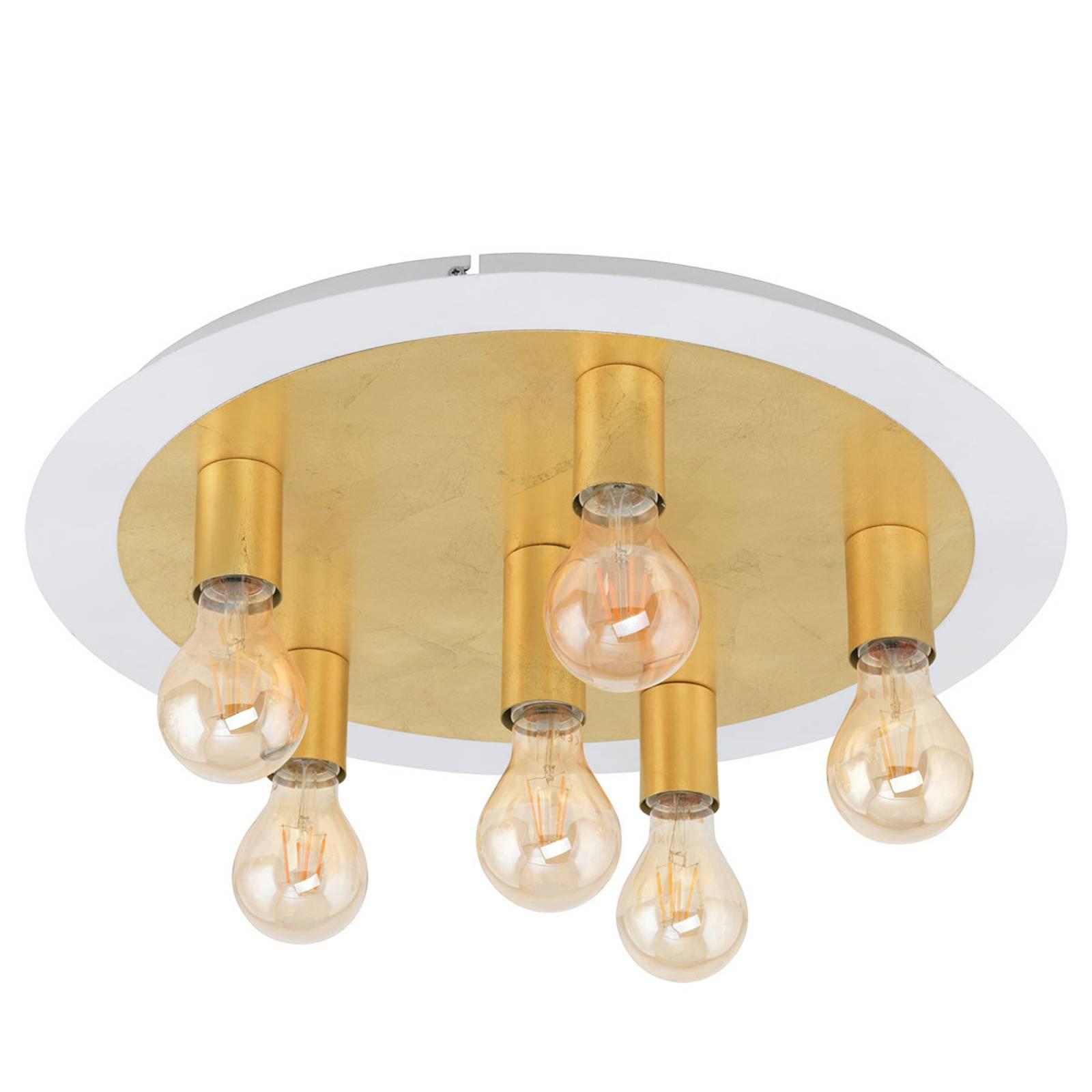 Lampa sufitowa LED Passano 6-punktowa złota