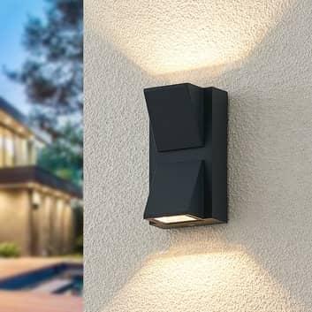 ELC Taloma LED-Außenwandlampe, 2-flammig anthrazit