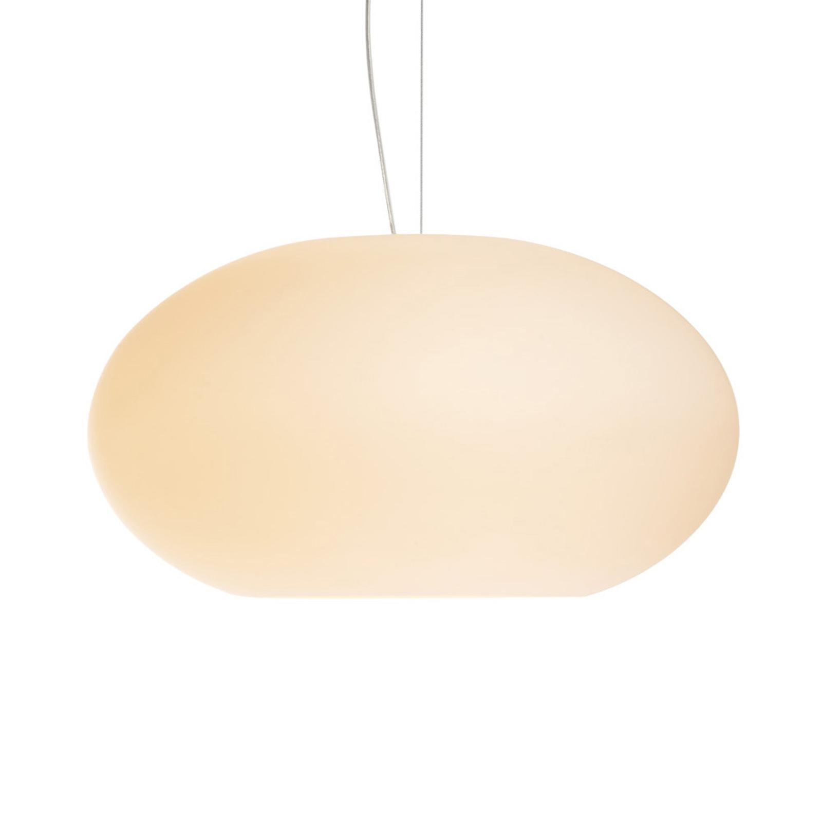 Glazen hanglamp AIH, 38 cm, crème mat