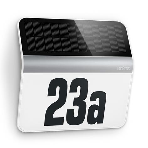 LED-huisnummerverlichting XSolar LH-N rvs