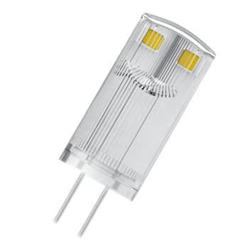 OSRAM LED-Stiftsockellampe G4 0,9W 2.700K klar 3er