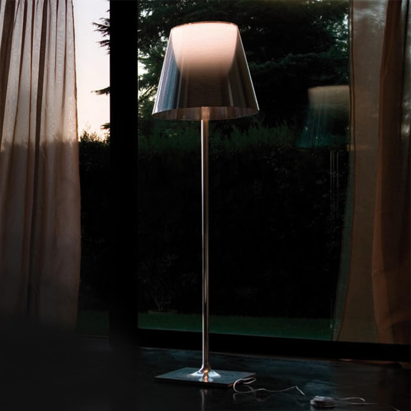 FLOS KTribe F3 stojaca lampa, priehľadná