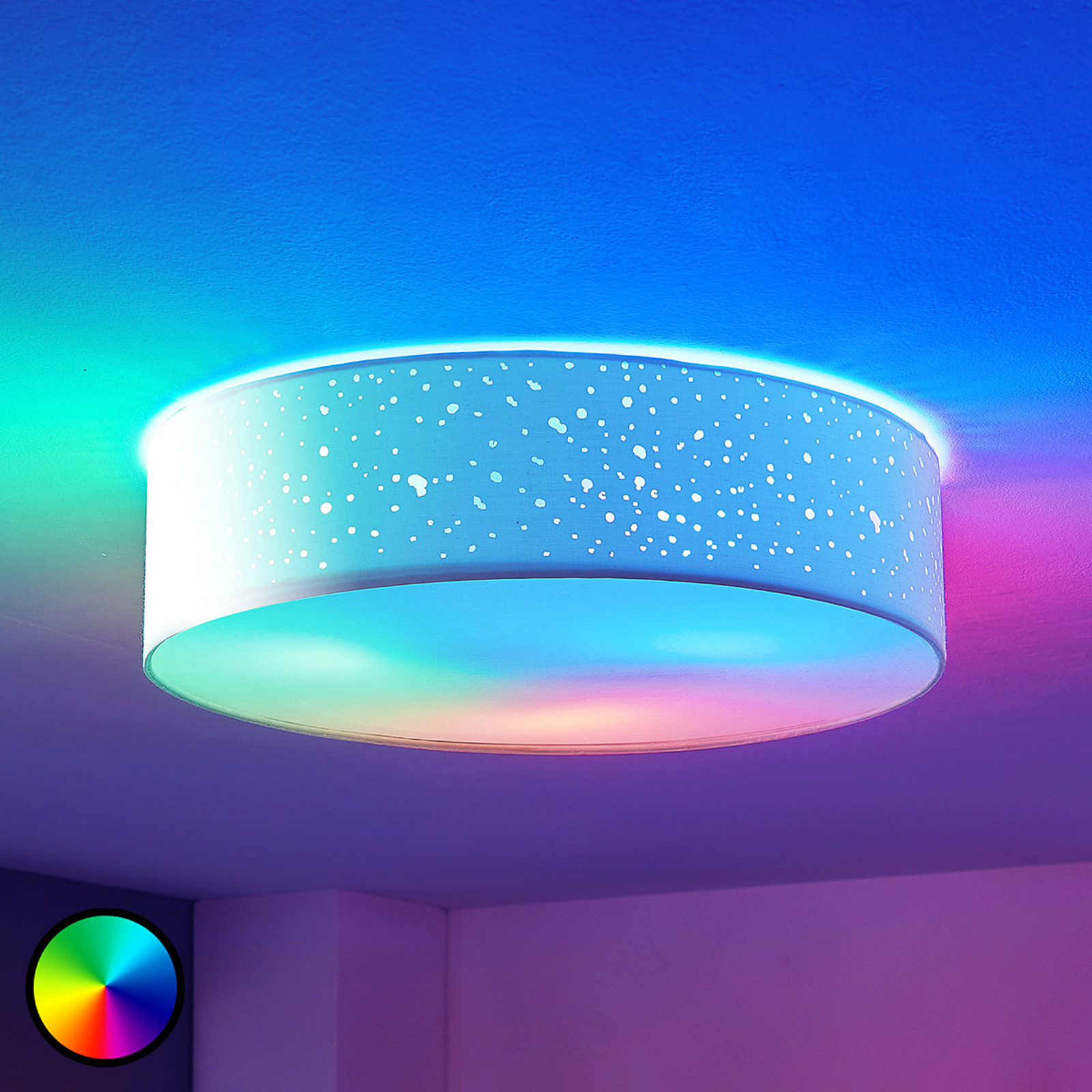 Lindby Smart LED-taklampa Alwine, direkt i taket