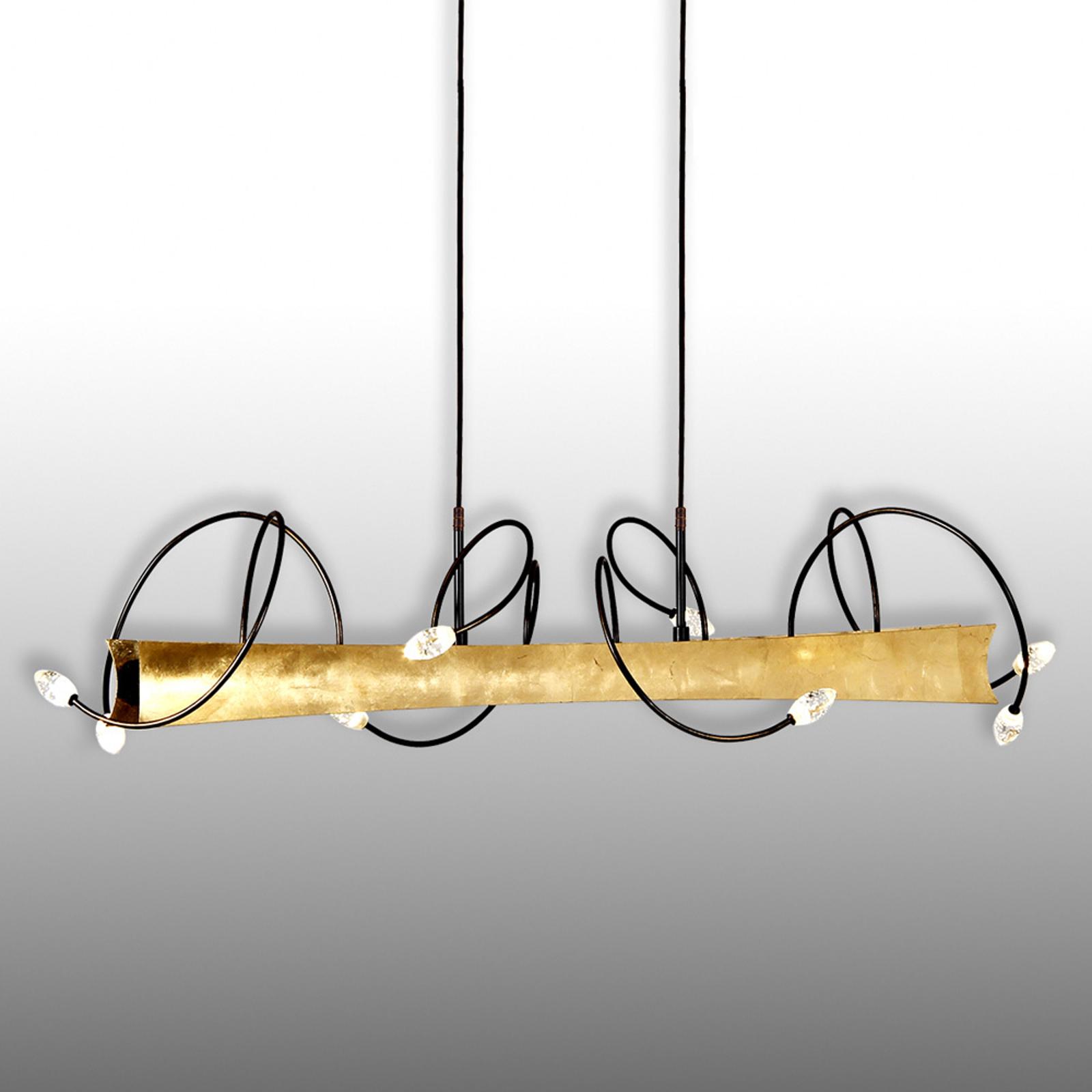 Menzel Donna - LED-Hängeleuchte mit Blattgold