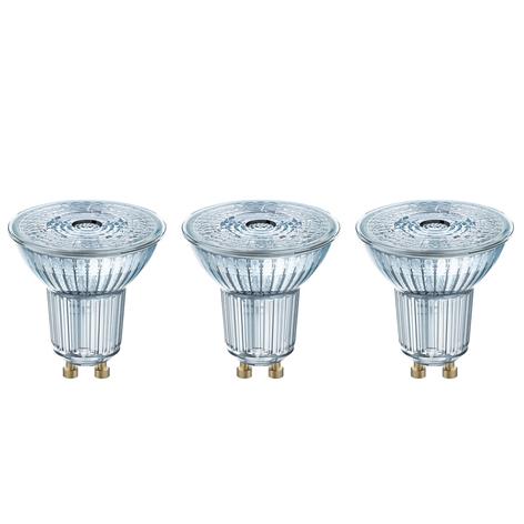 LED reflectorlamp GU10 4,3W, set v. 3