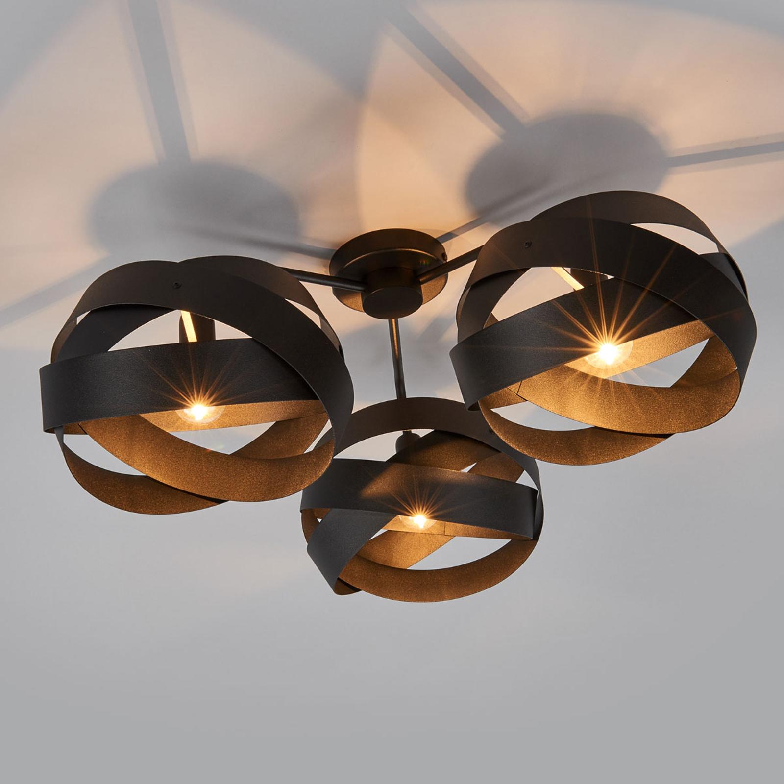 Loftslampe Tornado med tre lyskilder