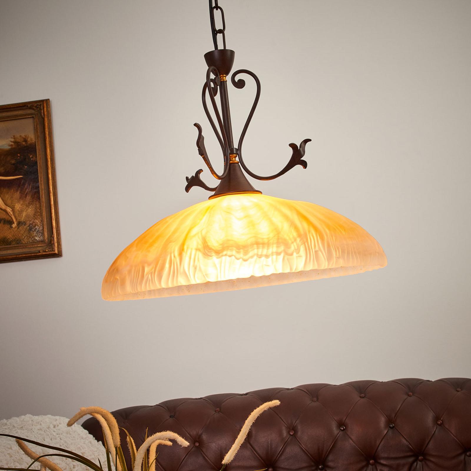 Alabastrový vzhľad – závesná lampa Armelle_6059371_1