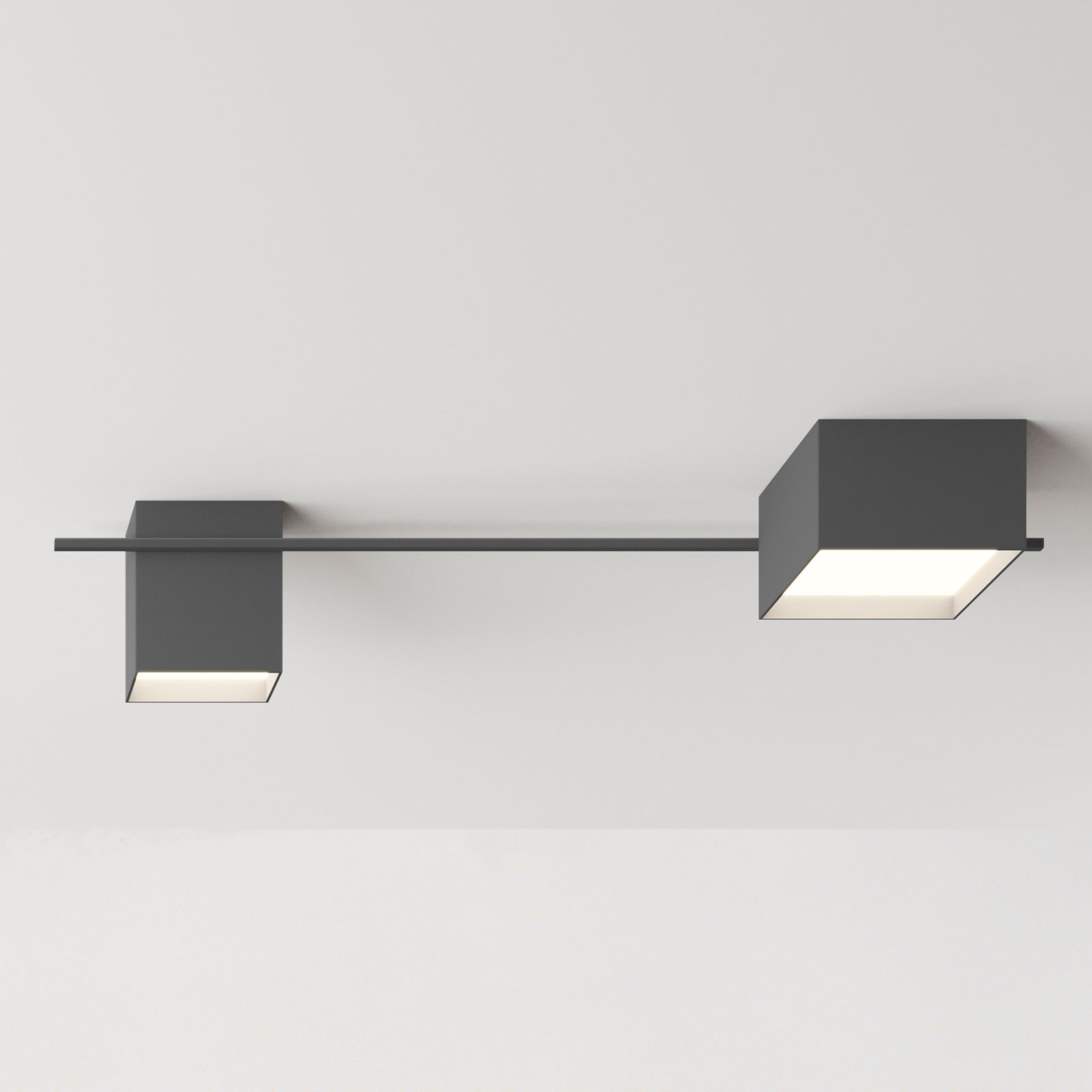 Vibia Structural 2640 plafondlamp, donkergrijs