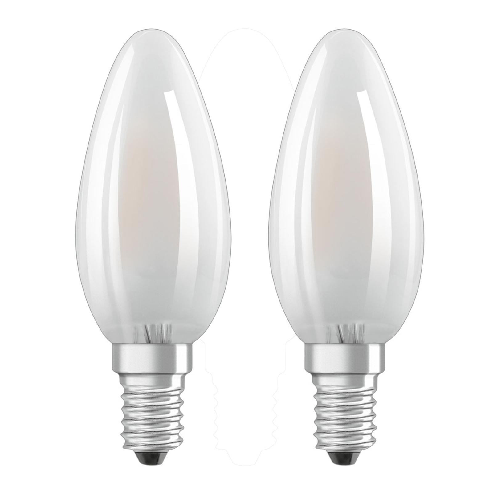 OSRAM LED-Kerzenlampe E14 4W warmweiß im 2er-Set