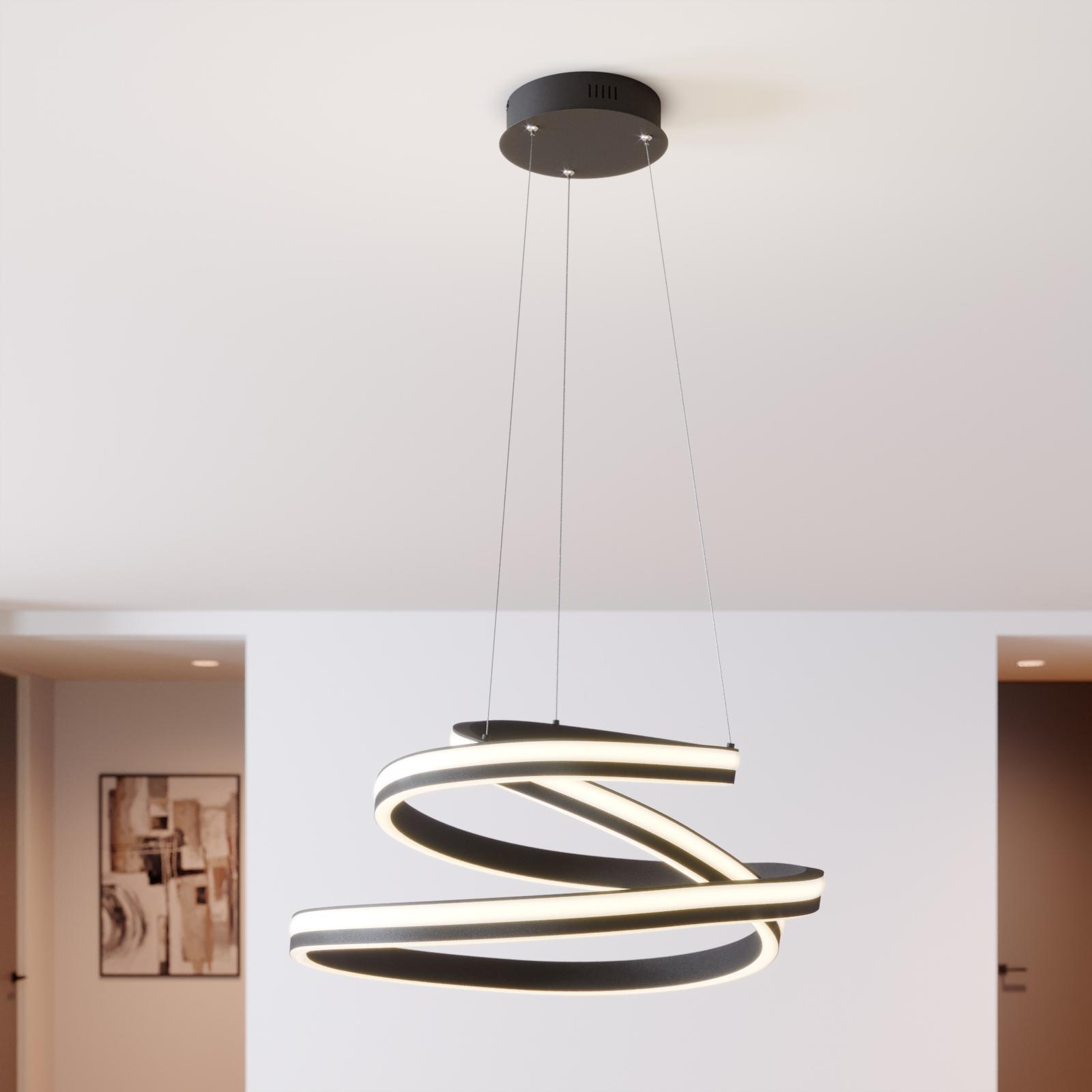 Lucande Emlyn LED-pendellampe, 60 cm