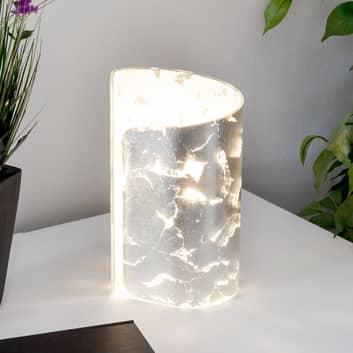 Stolní lampa Papiro, stříbrná