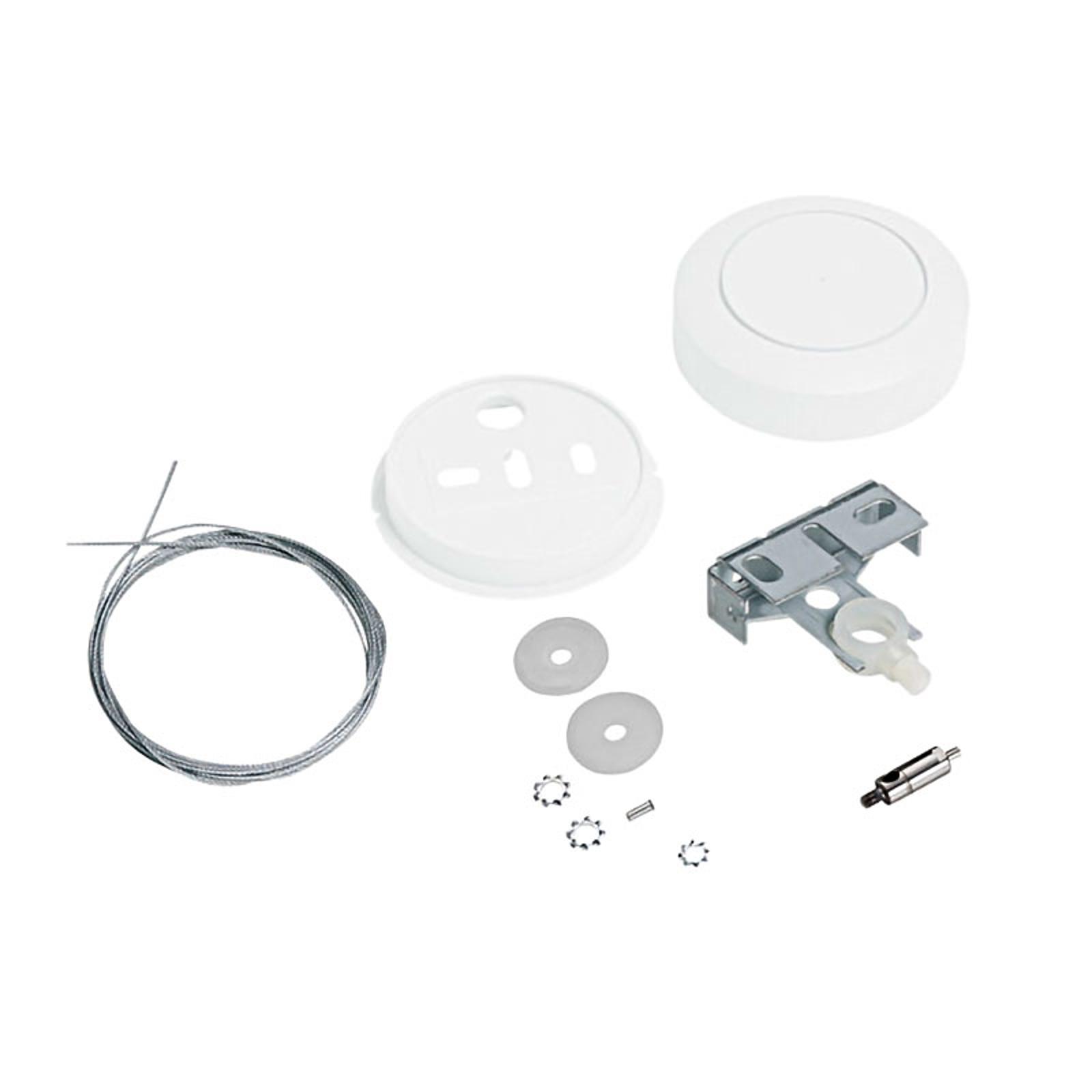 Siteco Vega 1tausopphengssystem baldakin hvit rund