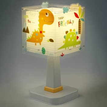 Lampe à poser carrée Dinos pour chambre d'enfant