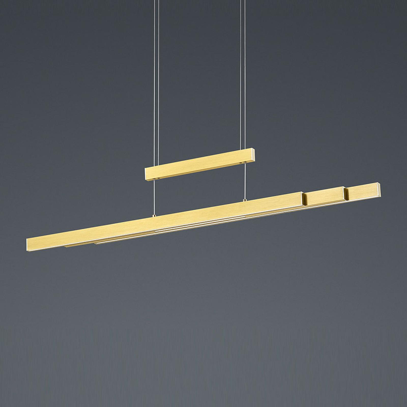 LED hanglamp Trajan, 2.700-5.000K, messing mat