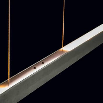 Holtkötter Xena S sospensione LED, 120 cm, platino